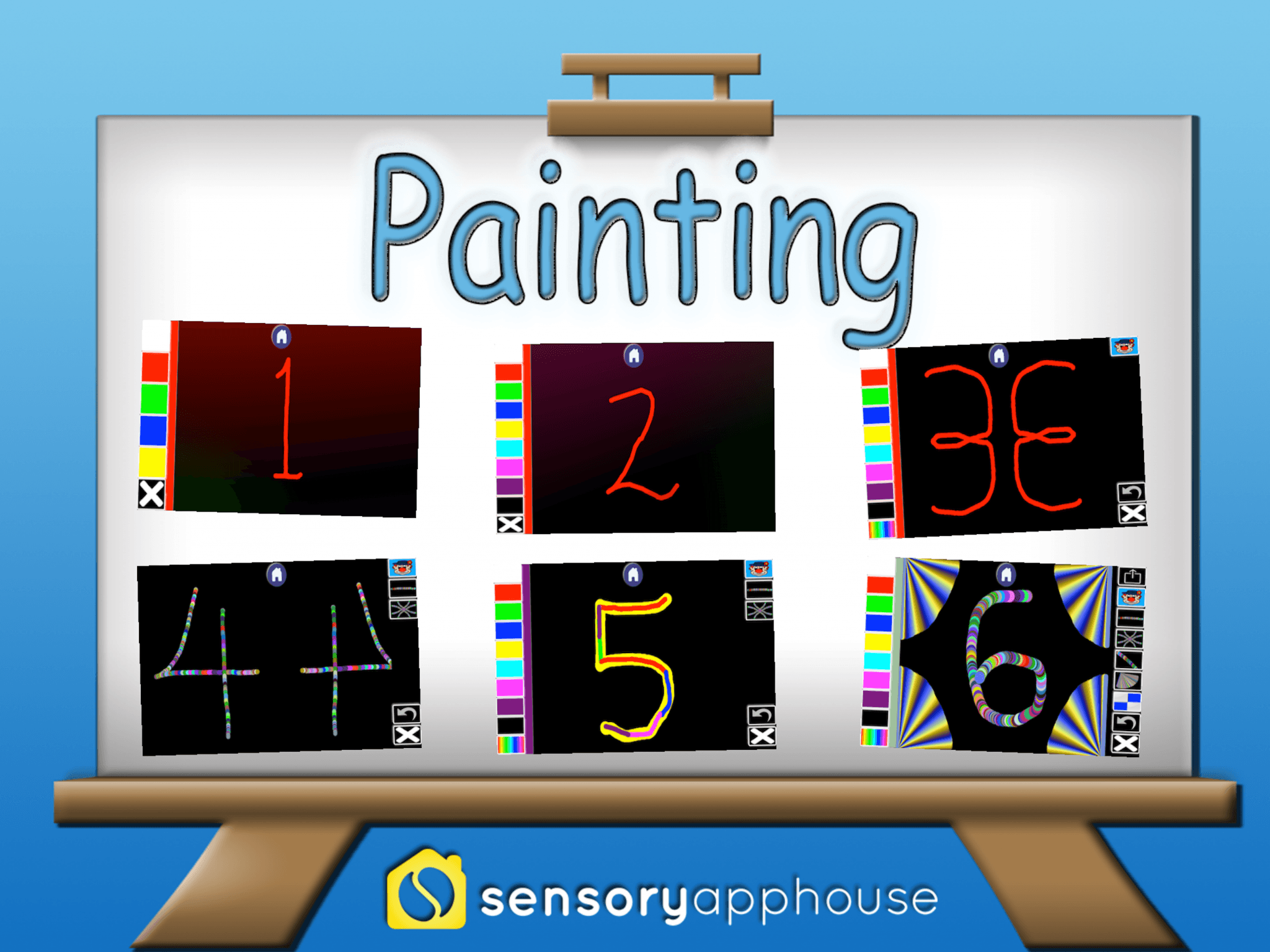 new painting apps released on ios sensory app house. Black Bedroom Furniture Sets. Home Design Ideas