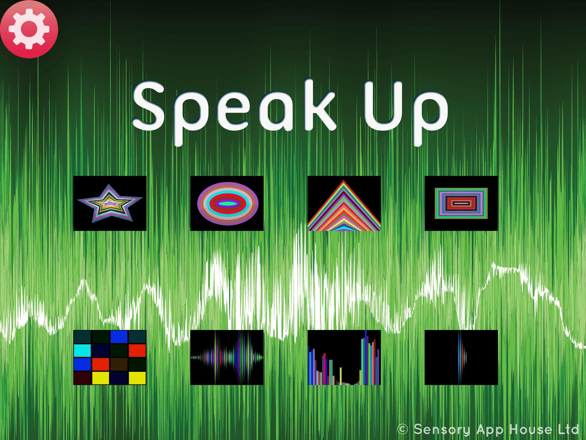 Speak Up - vocalization - Sensory App House