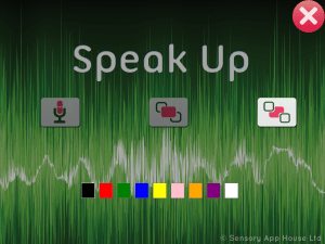 Speak Up settings - background colour