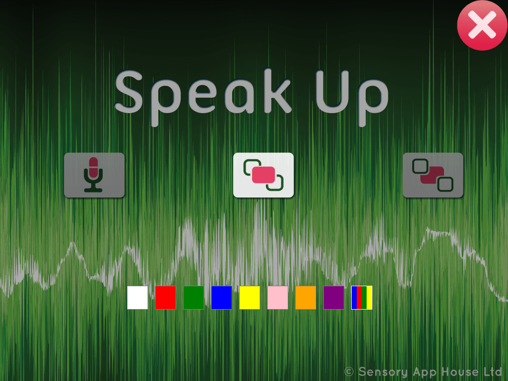 Speak Up settings - foreground colour