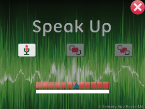 Speak Up settings - microphone sensitivity